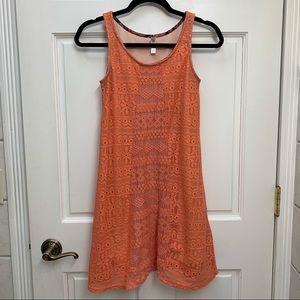 Peach Tank Top Dress
